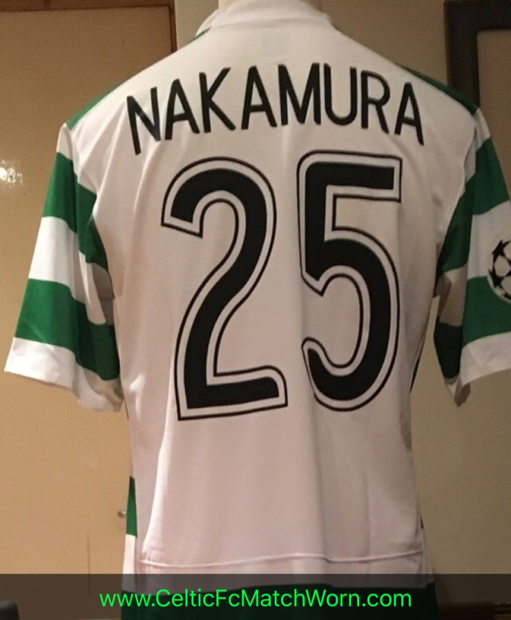 uk availability 44e17 2478f Shunsuke Nakamura 2007-2008 Home – Celtic FC Match Worn ⭐️