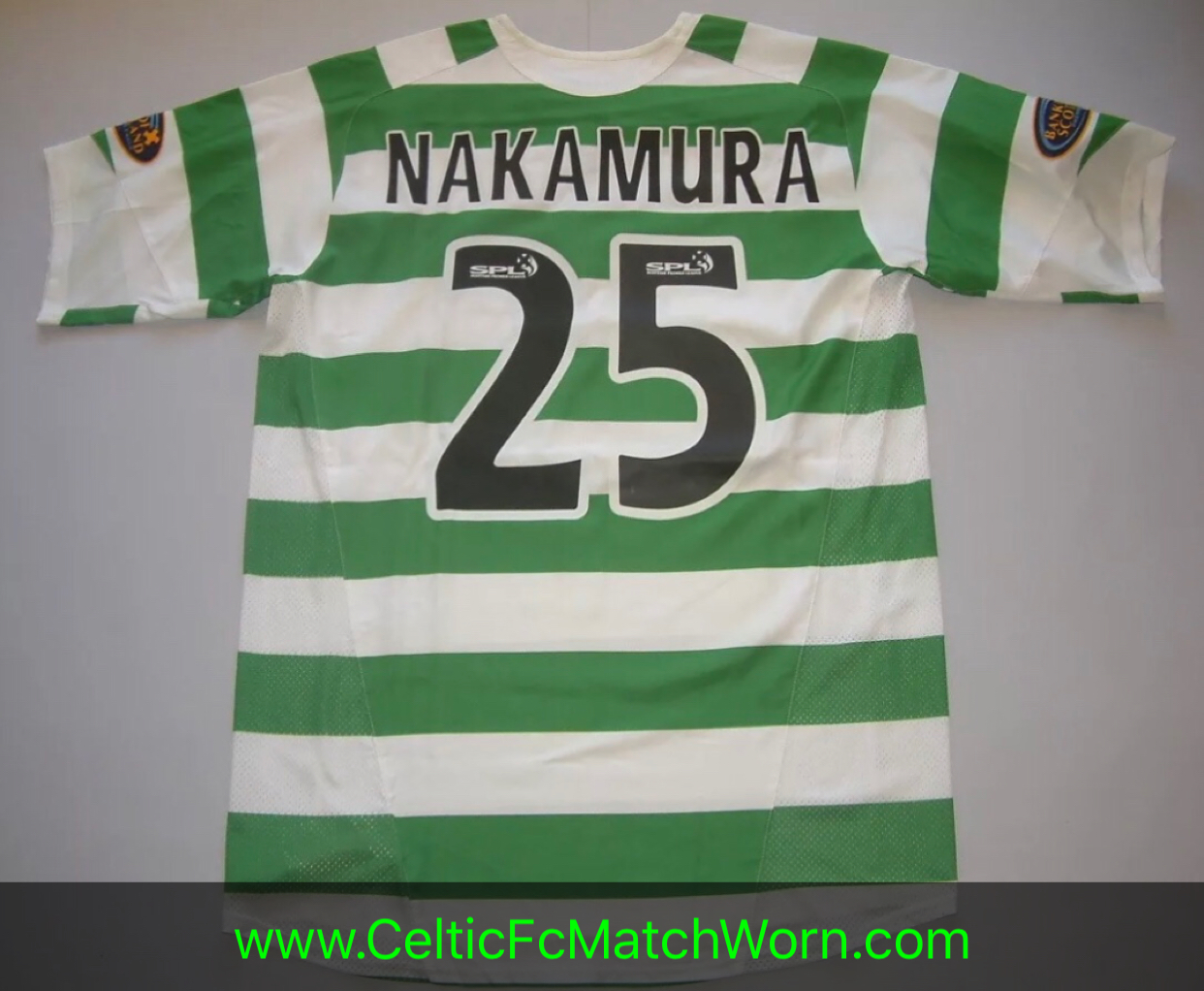 check out 45576 12b5c Shunsuke Nakamura 2005-2007 Home – Celtic FC Match Worn ⭐️