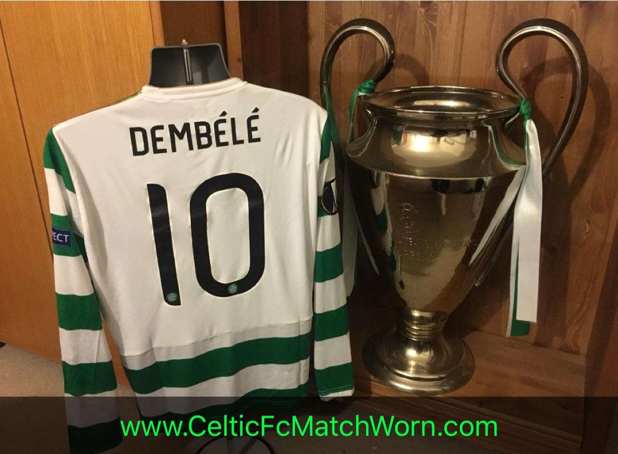 16b014d56 Moussa Dembele 2017-2018 Home v Zenit (A) – Celtic FC Match Worn ⭐️
